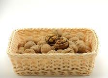 A basket of walnut Stock Photos