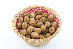 Basket with Walnuts Royalty Free Stock Image