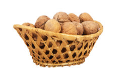 Basket with walnuts Stock Photography