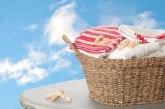 Basket Of Washing Stock Photography