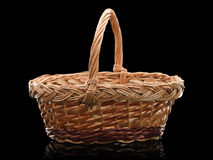 Basket wattled from rods Royalty Free Stock Images