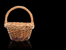 Basket wattled from rods Stock Photography