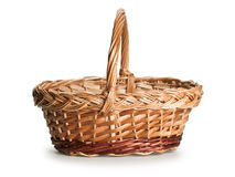 Basket wattled from rods Stock Images