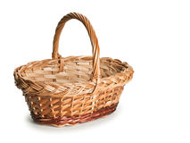 Basket wattled from rods Royalty Free Stock Photography