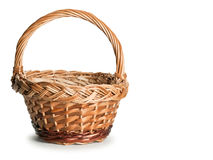 Basket wattled from rods Royalty Free Stock Image