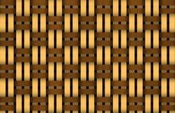 Basket weave. Illustration of a brown basket weave Stock Images