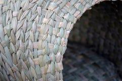 Basket weave. Detail of woven basket on display at market near patzcuaro mexico Stock Photos