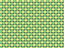 Basket weave. Green and yellow basket weave abstract background Stock Photos