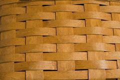 Basket Weave. Closeup of a wooden basket that is handwoven and made in Ohio, USA royalty free stock photos