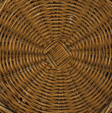 Basket weave. Circular basket base, close up with good texture Stock Photography