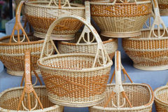 Basket weave, Bamboo basket Royalty Free Stock Photography