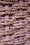 Basket weave. Close up pattern Royalty Free Stock Image
