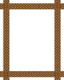 Basket weave frame or border Royalty Free Stock Images