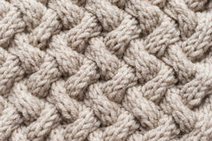 Basket weave knit pattern Royalty Free Stock Photography