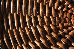 Basket Weave Pattern. A close-up of a basket weave pattern as the sunlight shines on it royalty free stock image