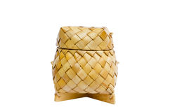 A basket weave pattern with palm leaves Stock Photography