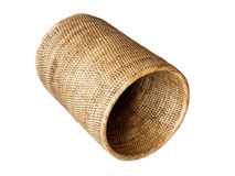 Basket, weave pattern. On white Royalty Free Stock Image