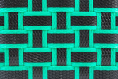 Basket weave texture. Black and Green Basket weave texture background stock photography