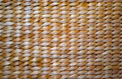Basket Weave Texture of rustic nature. Thick basket weave texture in a light brown and cream color Royalty Free Stock Photo