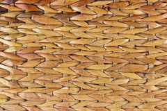 Basket weave. The woven fibers of a basket Stock Image