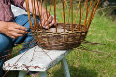Basket weaver Royalty Free Stock Photos