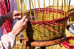 Basket weaving Royalty Free Stock Photos