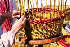 Basket weaving Royalty Free Stock Photos