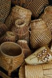 Basketry. Basket weaving also basketry or basket making is the process of weaving or sewing pliable materials into two- or threedimensional artefacts, such as stock photography