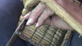 Basket Weaving, Arts & Crafts, Wicker stock video