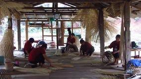 Basket Weaving in Bamboo Hut