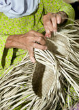 Basket Weaving Royalty Free Stock Photography