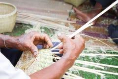 Basket weaving Royalty Free Stock Image