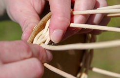 Basket weaving Royalty Free Stock Images