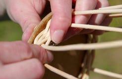 Basket weaving Royalty Free Stock Images