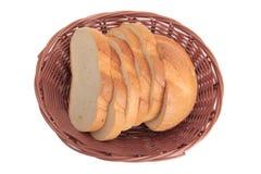 Basket whit bread Royalty Free Stock Image