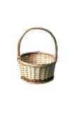Basket on white Stock Photo