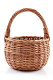 A basket on white  Royalty Free Stock Photography