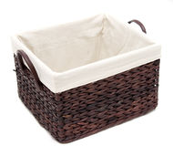 Basket on white background Royalty Free Stock Photo