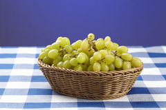 Basket of white grapes Royalty Free Stock Photo