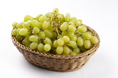 Basket of white grapes Royalty Free Stock Images