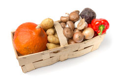 Basket with wholesome food Royalty Free Stock Images