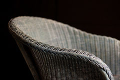 Basket wicker chair Royalty Free Stock Image