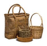 Basket Wicker Group Royalty Free Stock Image