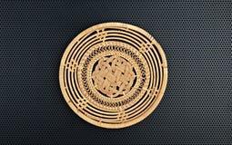 Basket wicker is handmade Stock Photos