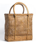 Basket Wicker isolation Royalty Free Stock Images
