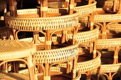 Basket wicker is Thai handmade. it is woven bamboo texture for background and design. Traditional Thai woven straw texture. Royalty Free Stock Images