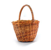 Basket. Wicker basket on white background Stock Images