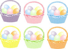 Basket With Easter Eggs Stock Photo