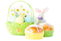 Free Basket With Easter Eggs Royalty Free Stock Photo - 51027615
