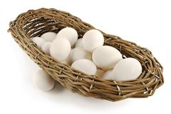 Free Basket With Eggs Stock Images - 1991214